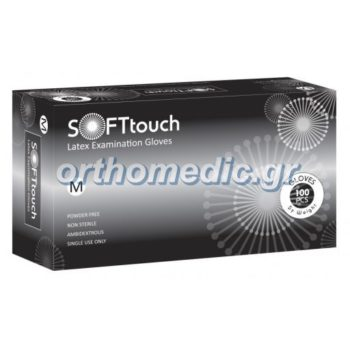 Γάντια Latex Μαύρα Soft Touch Χωρίς Πούδρα