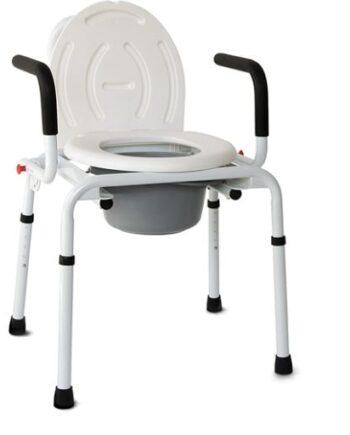 Καρέκλα Τουαλέτα με Πτυσσόμενα Πλαϊνά