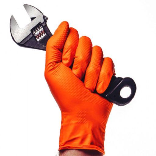 Γάντια Νιτριλίου Πορτοκαλί Aurelia Ignite